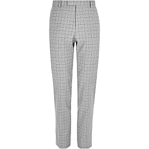 Big and Tall check slim fit suit trousers