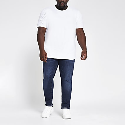 Big & Tall dark blue skinny fit jeans