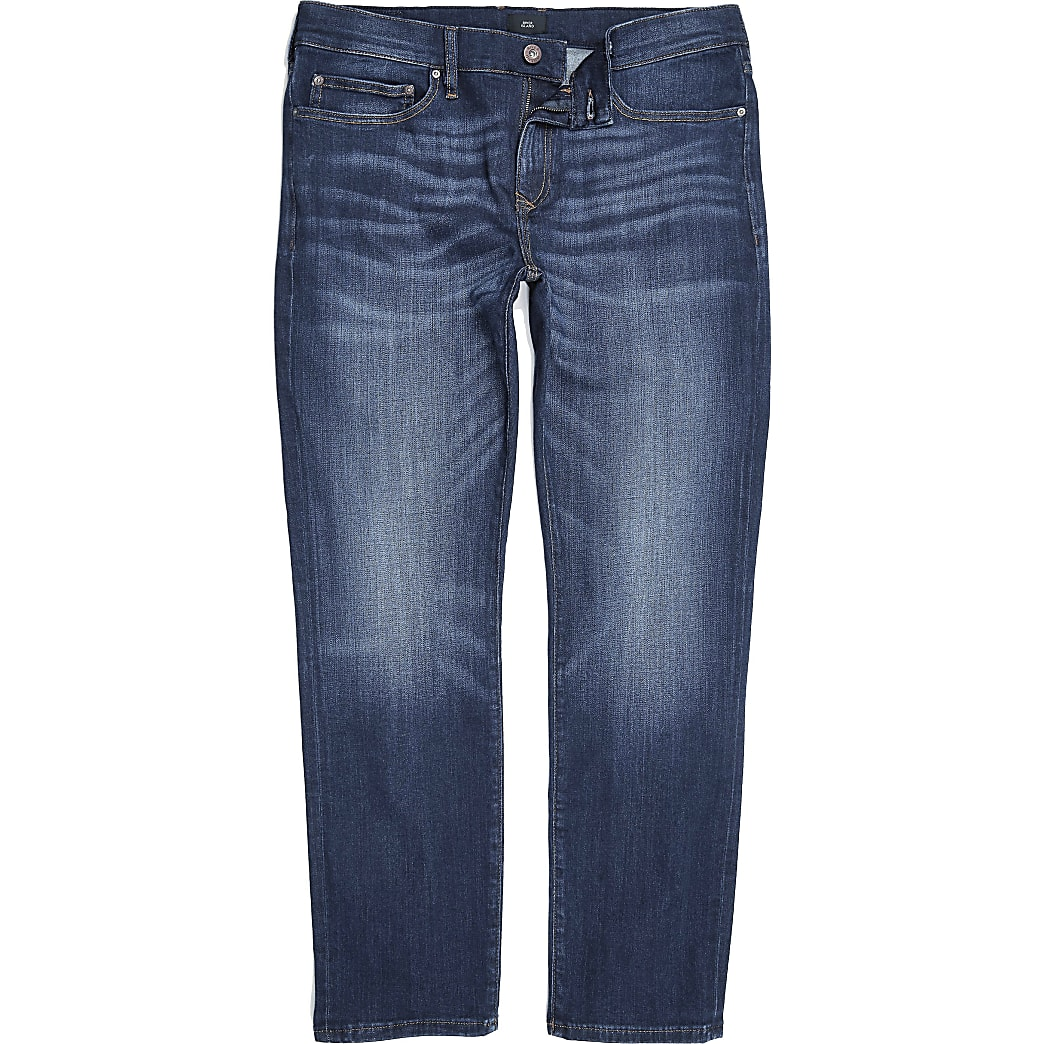 Big and Tall dark blue slim fit Dylan jeans