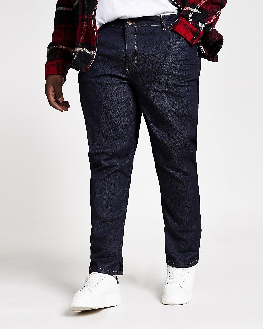Big & Tall dark blue slim fit jeans
