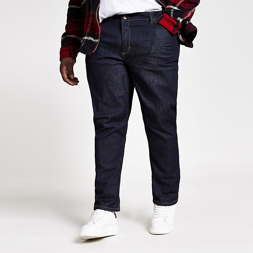 Big & Tall dark blue slim fit jeans