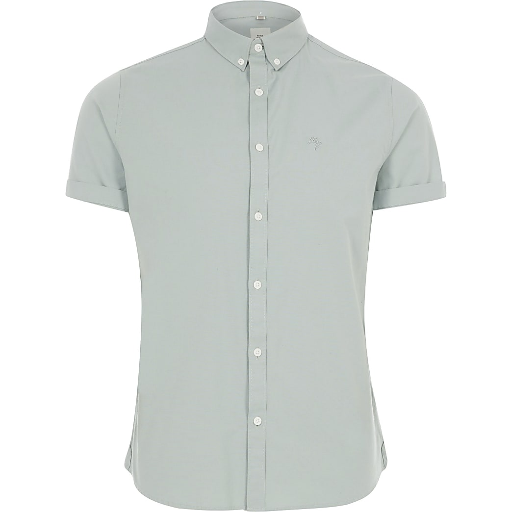 Big and Tall– Chemise Oxford verte