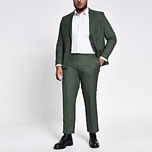 Big & Tall – Grüne Skinny Fit Anzughose