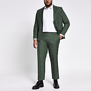 Big and Tall - Groene skinny-fit pantalon