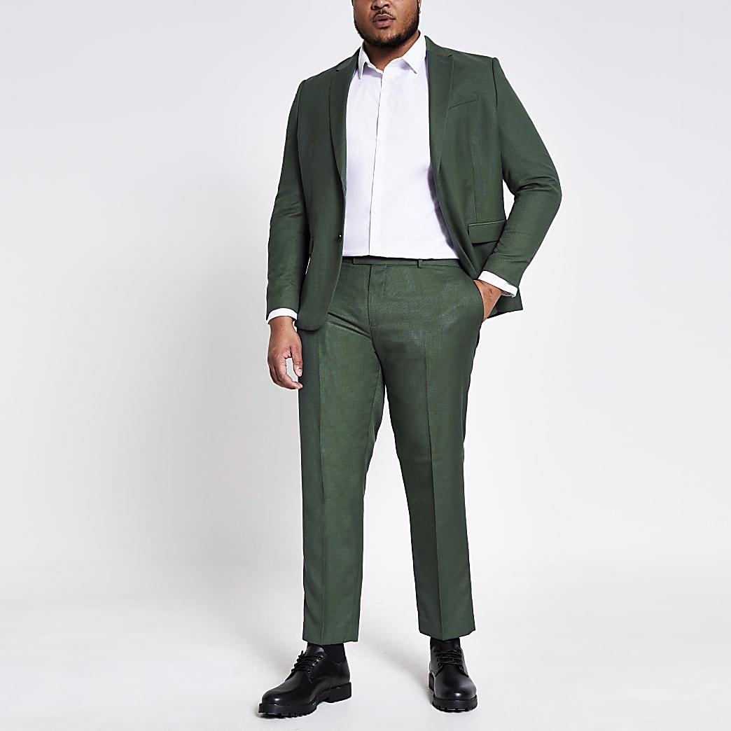 Big and Tall - Groene skinny-fit pantalon