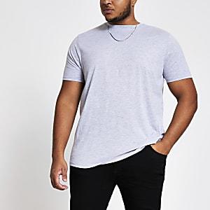 Big and Tall grey regular fit T-shirt