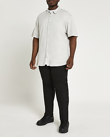 Big & Tall grey short sleeve shirt