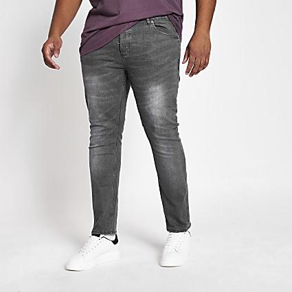 Big and Tall grey Sid skinny fit jeans