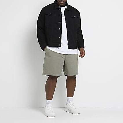 Big & Tall khaki chino shorts