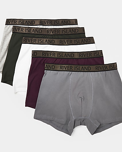 Big & Tall khaki RI branded trunks 5 pack