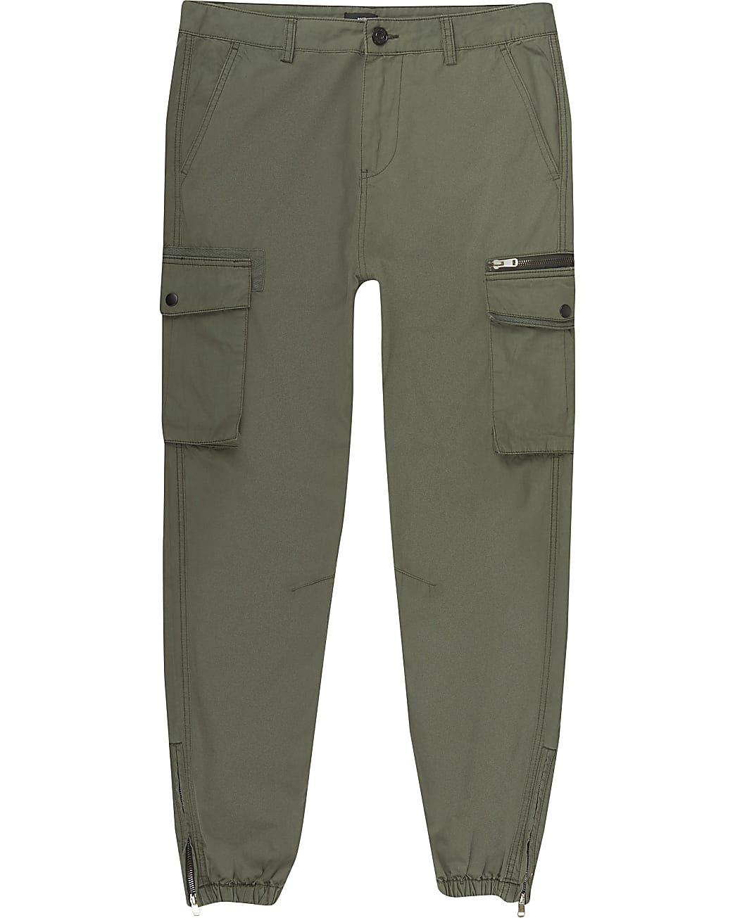 Big and Tall khaki skinny fit cargo trousers