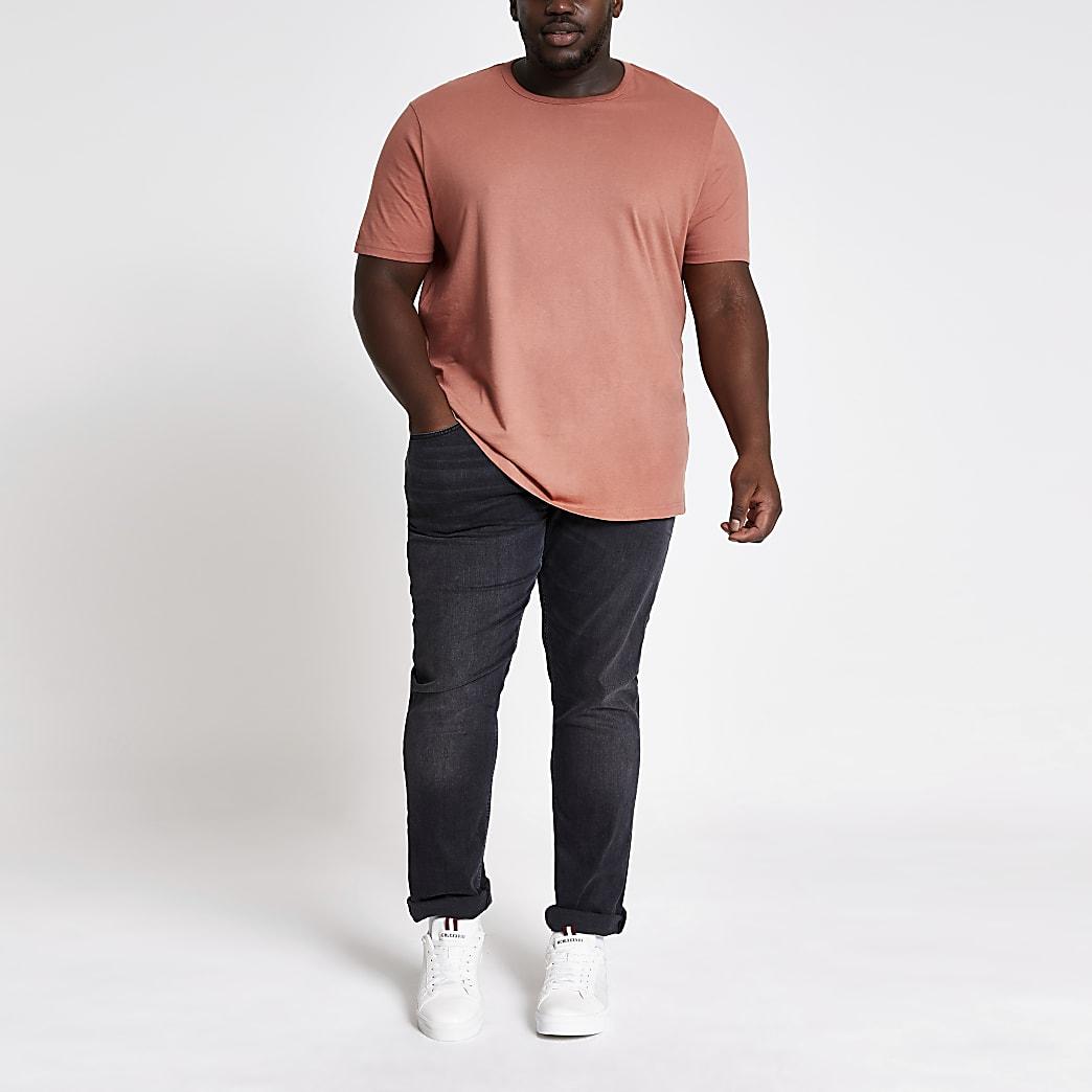 Big and Tall – T-shirt slim marron clair