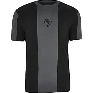 Big and Tall Maison Riviera black T-shirt