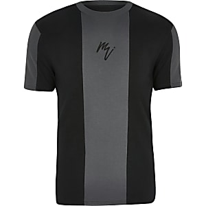 Big and Tall - Zwart T-shirt met 'Maison Riviera'-print