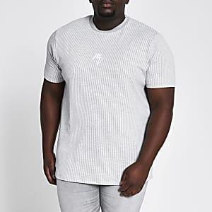 Big and Tall Maison Riviera grey T-shirt