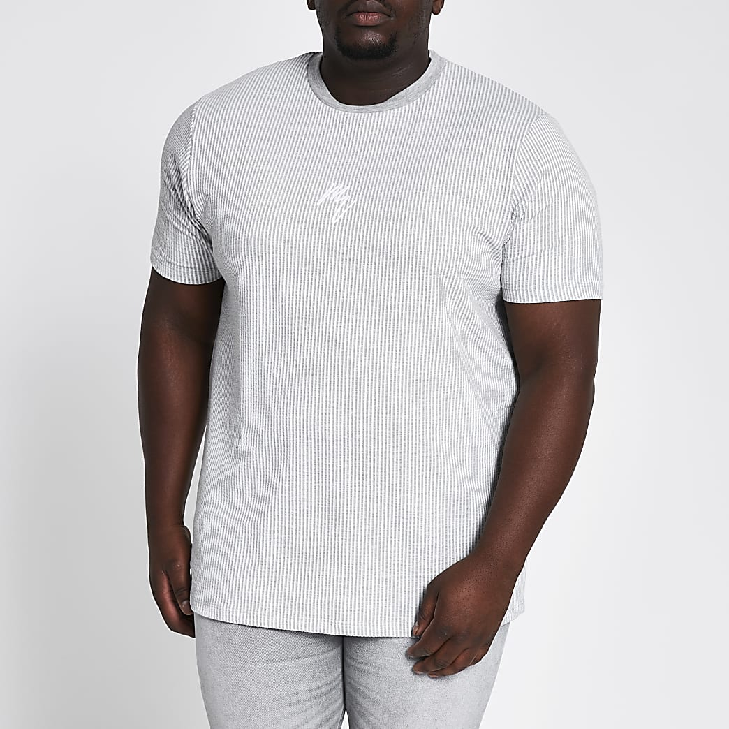 Big and Tall Maison Riviera grey T-shirt