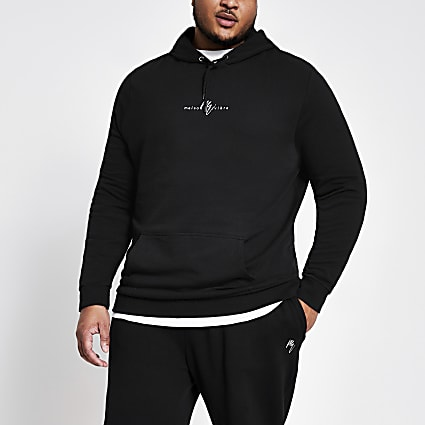 Big and Tall Maison Riviera navy hoodie