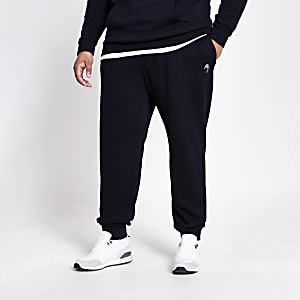 Big and Tall Maison Riviera navy joggers