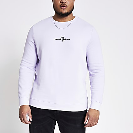 Big and Tall Maison Riviera purple sweatshirt