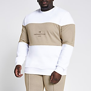 Big and Tall – Maison Riviera – Sweat blanc