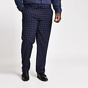 Big & Tall – Marineblaue Slim Fit Anzughose