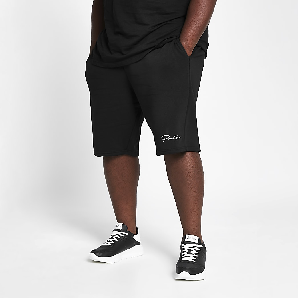 Big and Tall Prolific black slim fit shorts