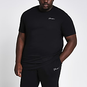 Big and Tall Prolific black slim fit T-shirt