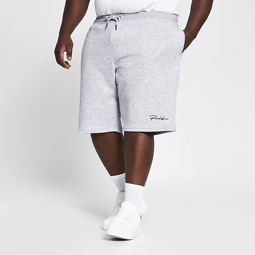 Big and Tall Prolific grey slim fit shorts
