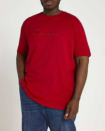 Big & Tall Prolific red slim fit t-shirt