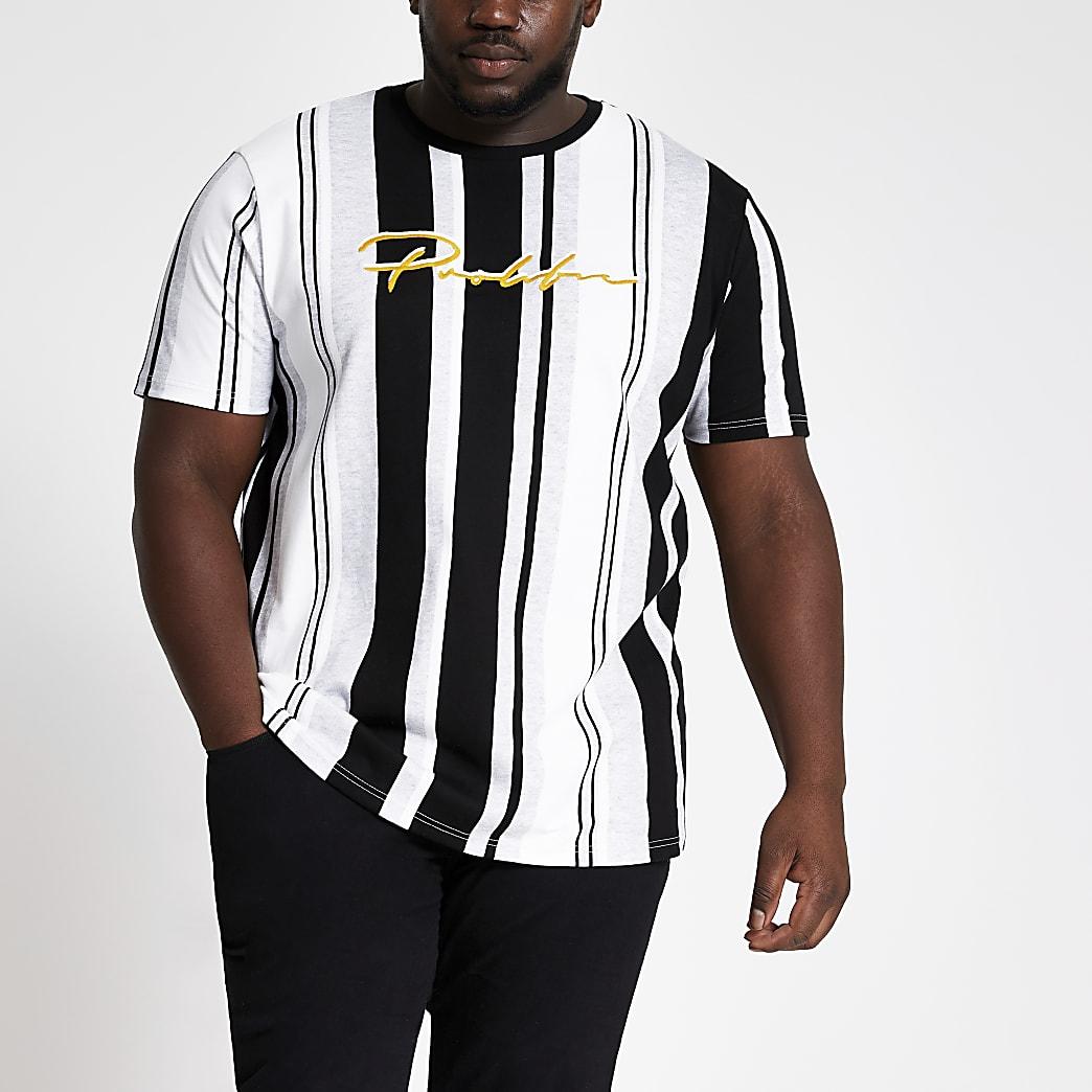 Big & Tall – Prolific – Slim Fit T-Shirt mit Streifen