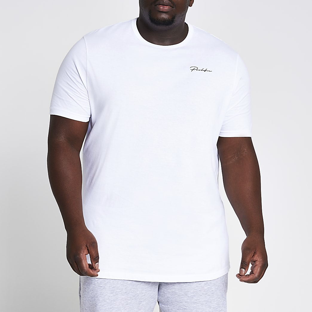 Big and Tall Prolific white slim fit T-shirt