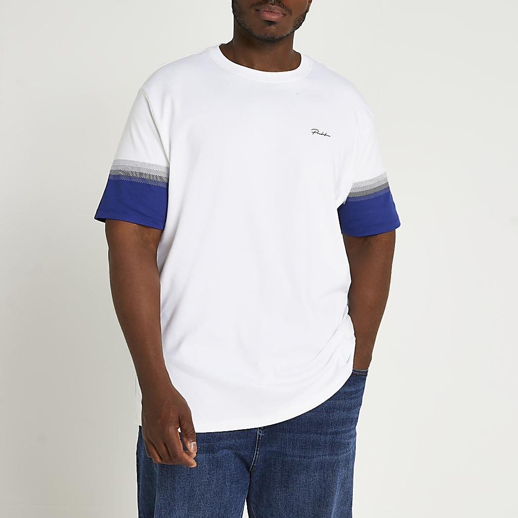 Big & Tall Prolific white stripe t-shirt