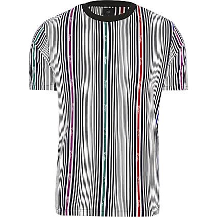Big and Tall Prolific white stripe T-shirt