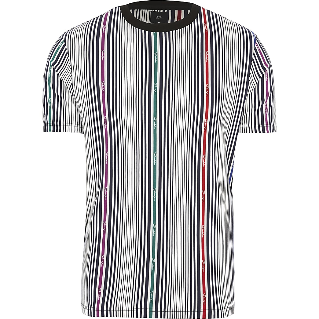 Big and Tall Prolific white stripe T-shirt