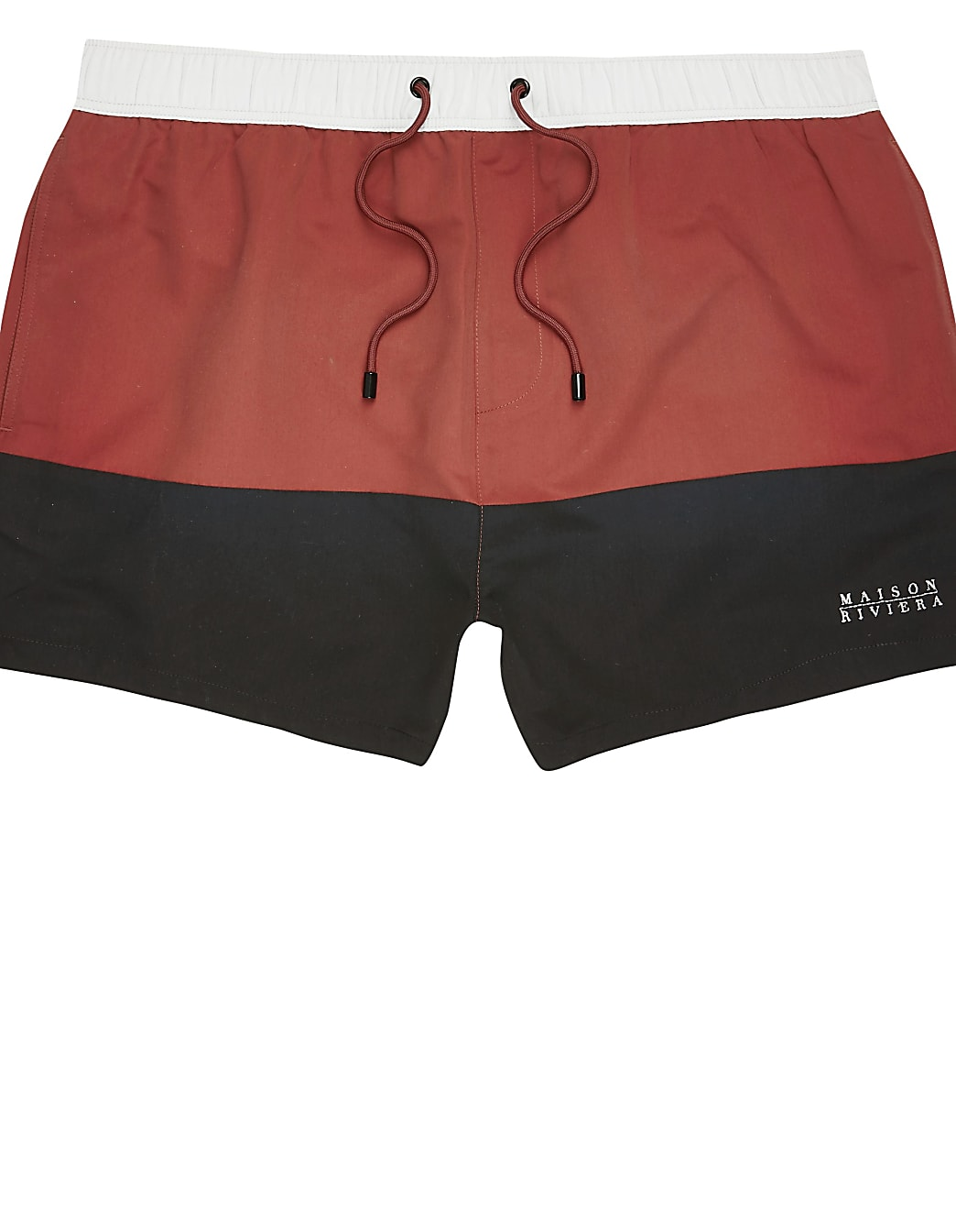 Big and Tall red colour blocked swim shorts
