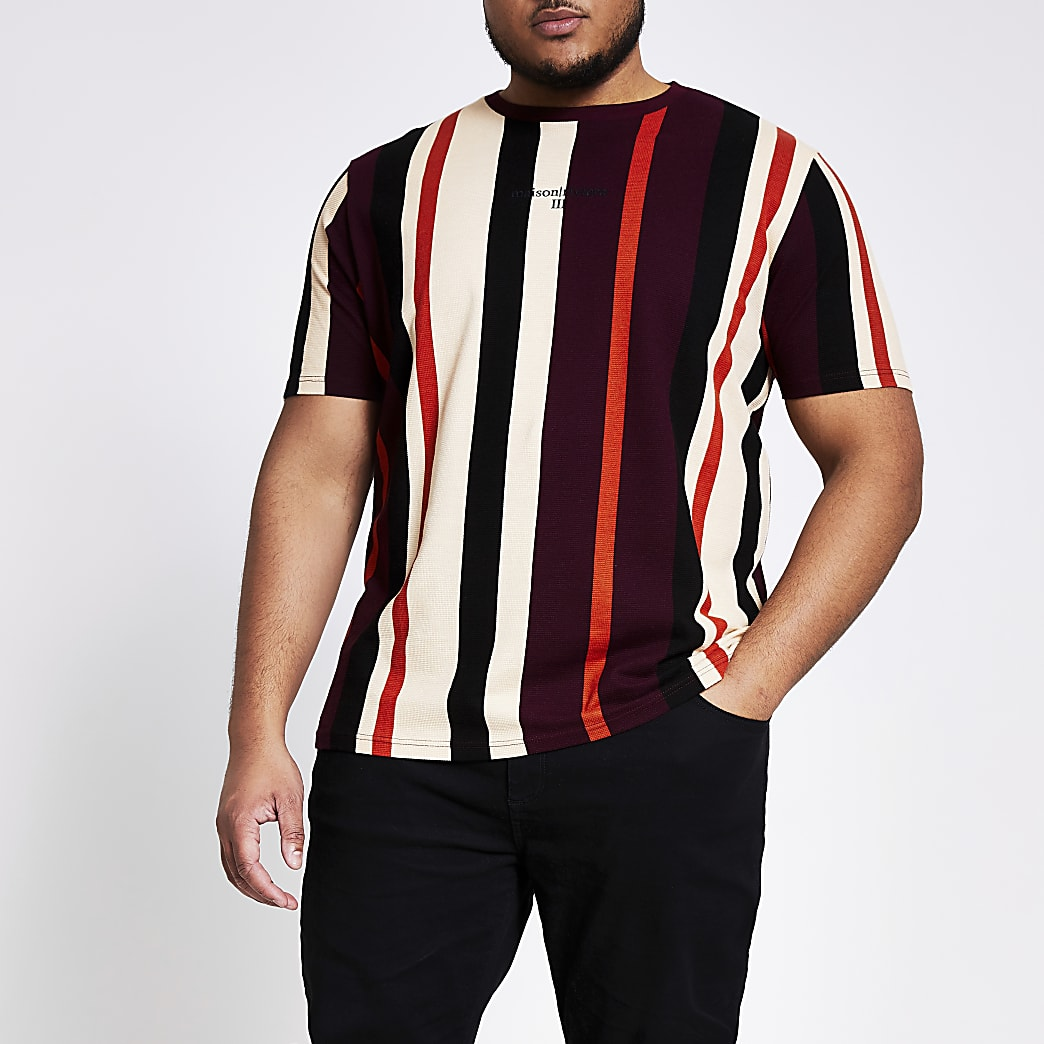 Big and Tall red stripe t-shirt