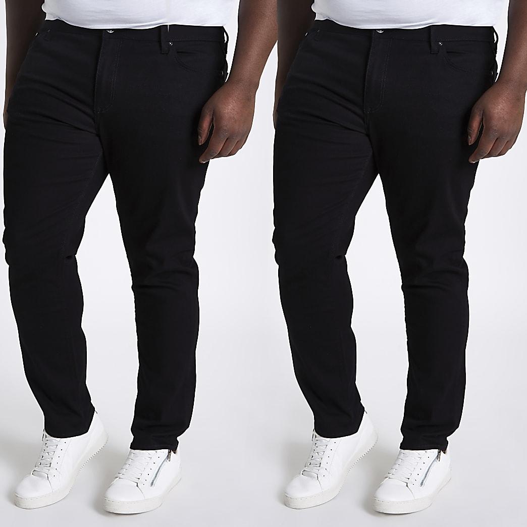 Big and Tall - Sid - Set van 2 skinny-fit jeans
