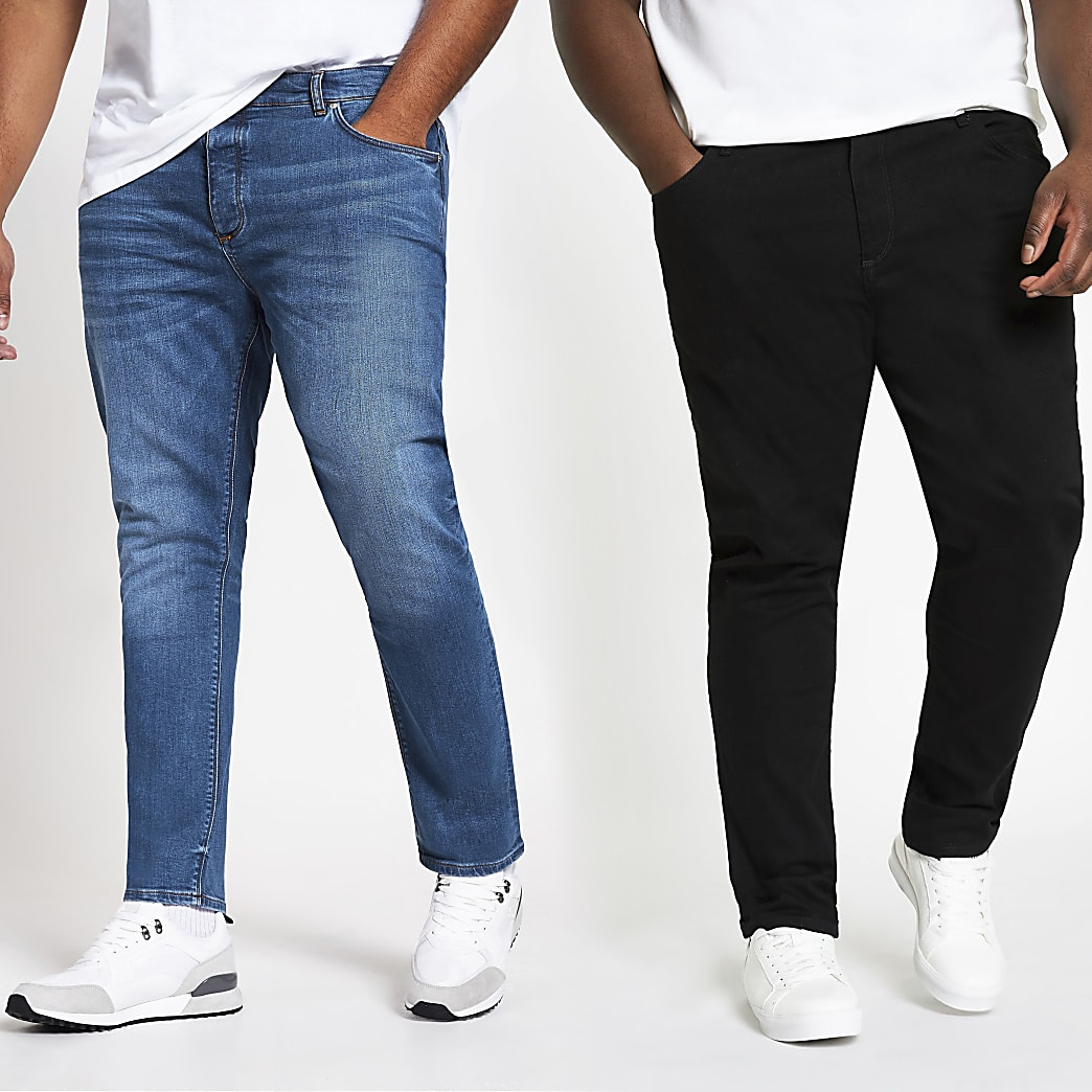 Big and Tall Sid skinny jeans 2 pack