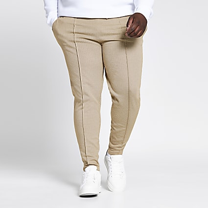 Big and Tall stone check slim fit jogger