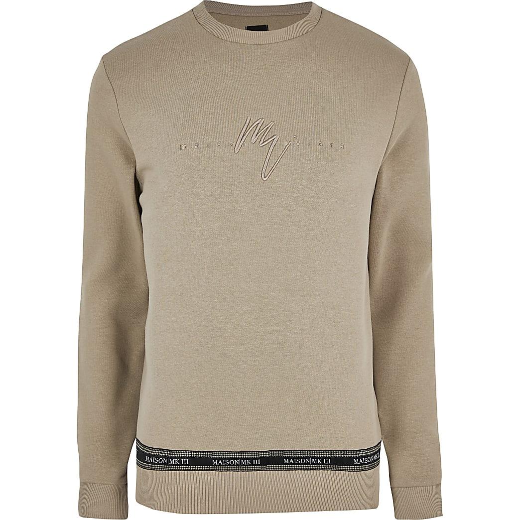 Big and tall stone Maison slim fit sweatshirt