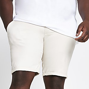 Big and Tall stone skinny fit chino shorts