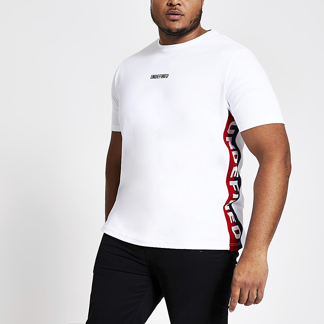 Big and Tall Undefined white slim fit T-shirt