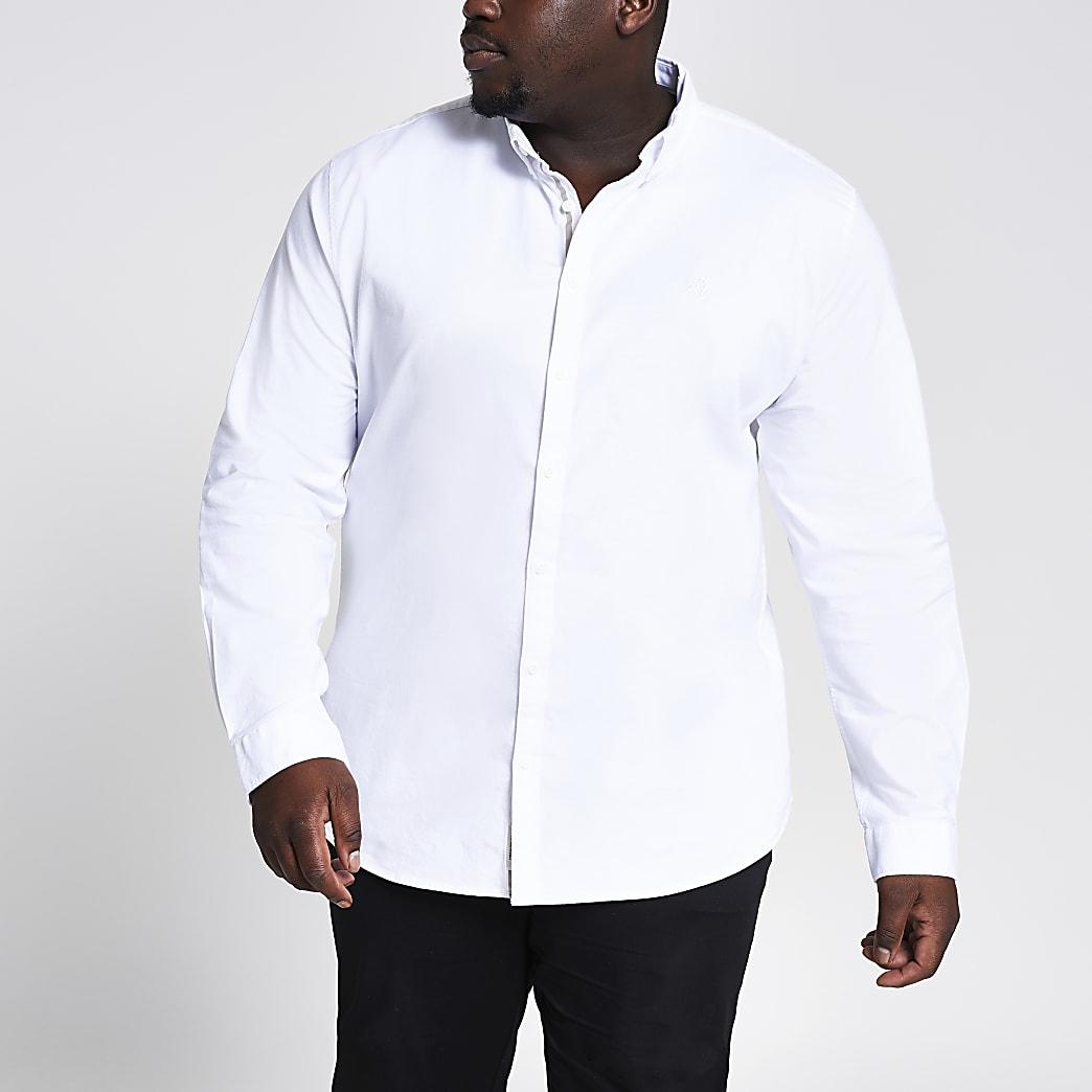 Big & Tall White Oxford Slim Fit Shirt
