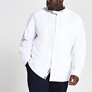 Big & Tall – Weißes Slim Fit Oxford-Hemd