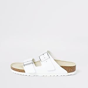 Birkenstock - Witte Arizona sandalen met twee bandjes