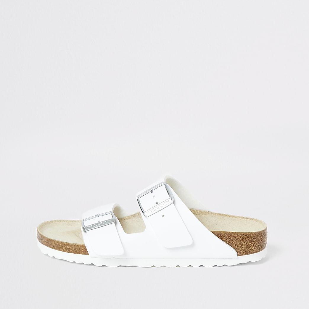 Birkenstock – Arizona – Weiße Sandalen mit zwei Riemen
