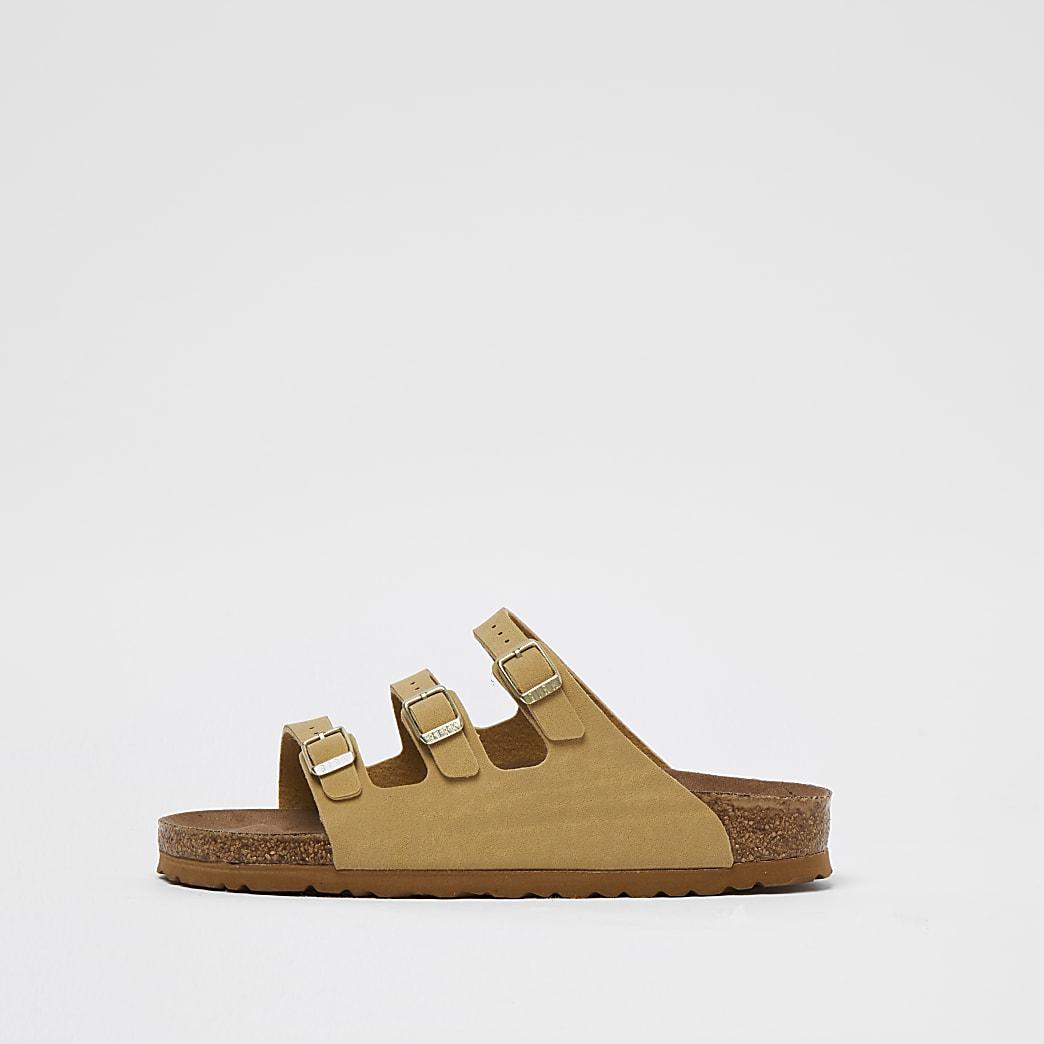 Birkenstock beige vegan strappy sandals
