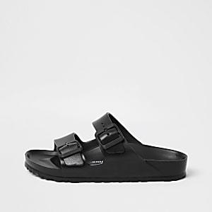 Birkenstock- Zwarte ArizonaEVA sandalen