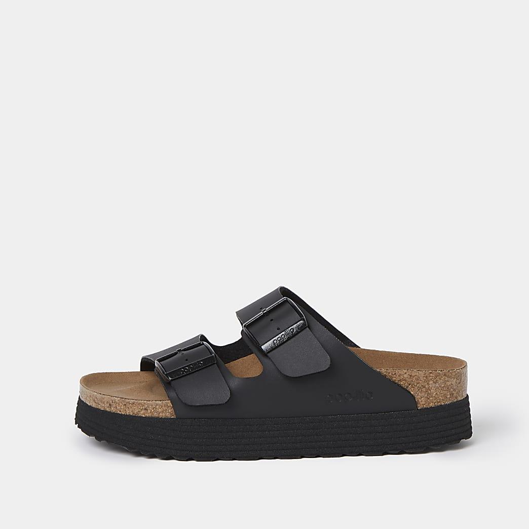 Birkenstock Black Arizona grooved sandals