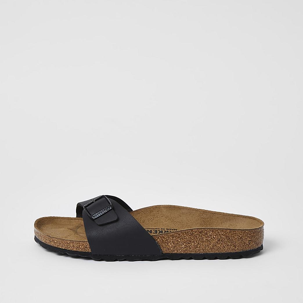 Birkenstock- Zwarte Madrid sandalen